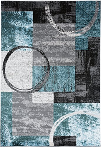 Contemporary Abstract Circle Design Gray Soft 33quot x 5