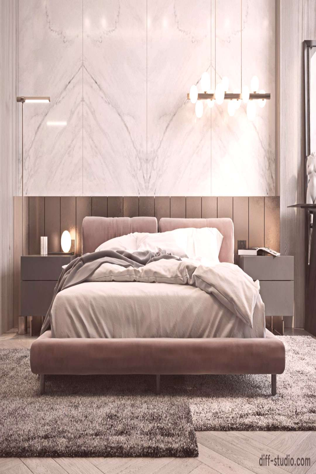Contemporary house in Paris. Master bedroom. on Behance
