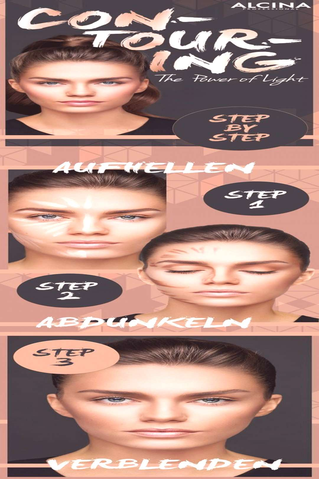 Contouring Guide This is how you contour your face quickly and easily as a daily m ...