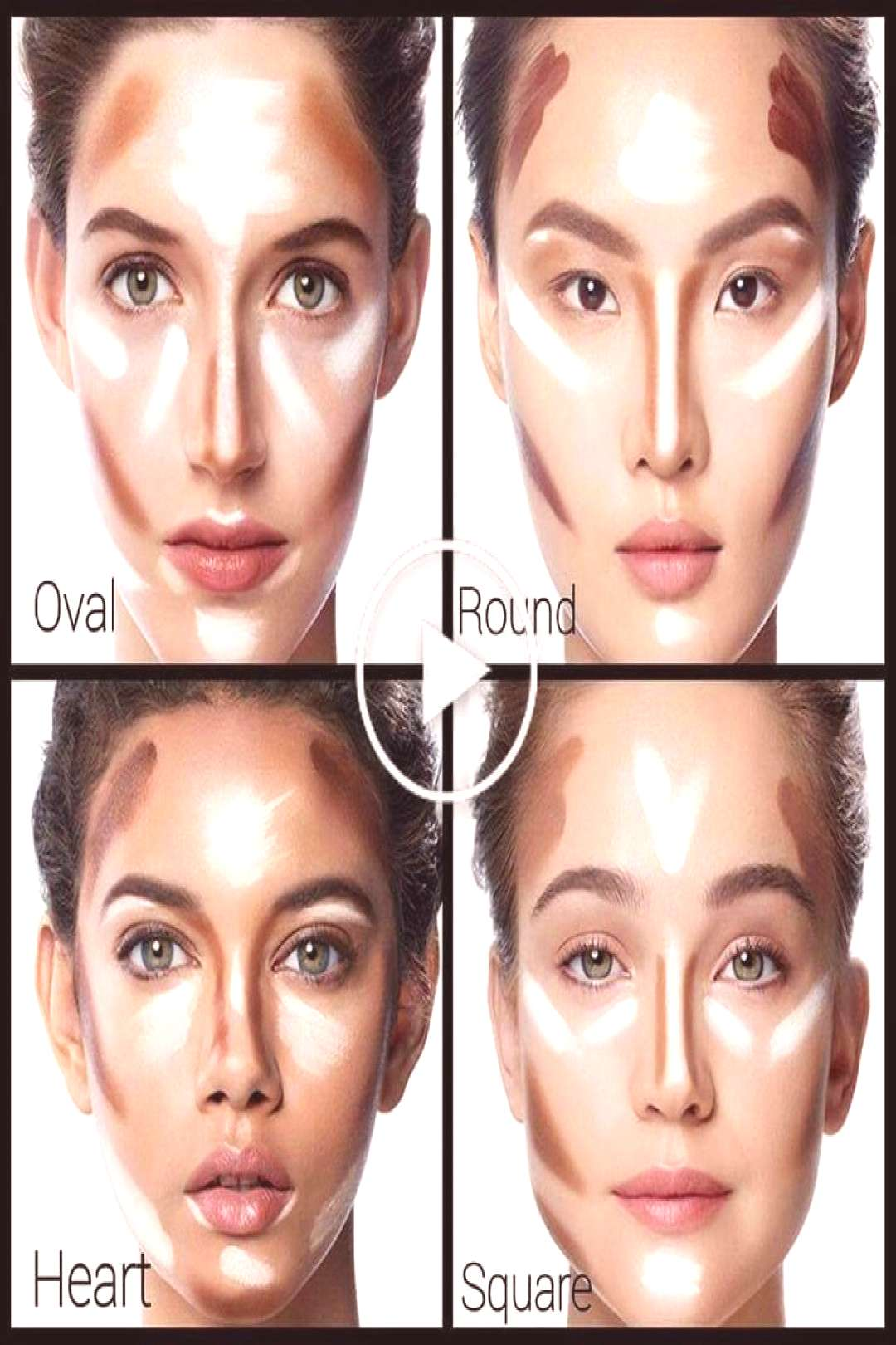 Contouring HomemadeBeautyProducts contour HomemadeBeautyProducts Le co - høyde Le høyde