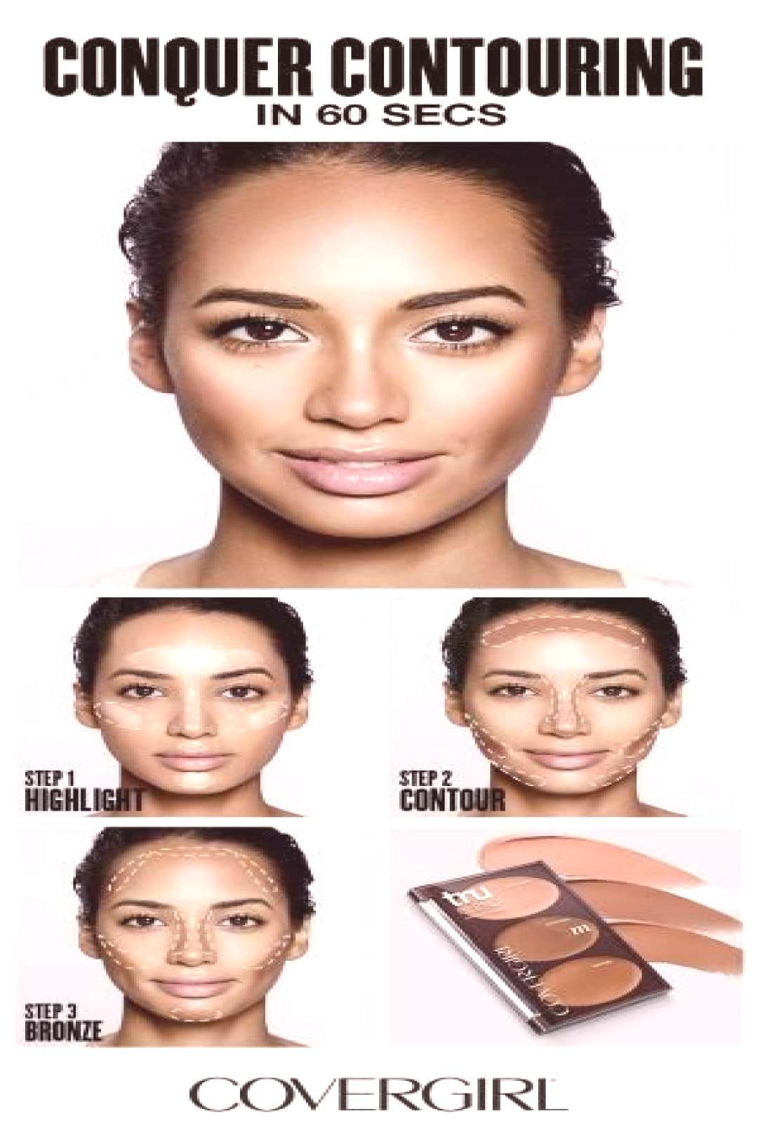 COVERGIRL shows you how to contour your face in 60 seconds! Follow COVERGIRL'S step-by-step conto