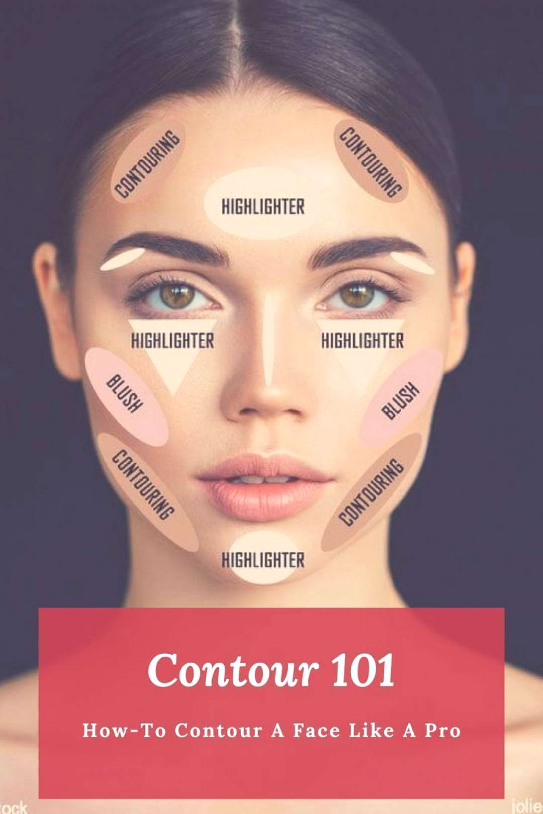 Detailed contouring guide that explains how to make a face professionally - ... - Detailed contour