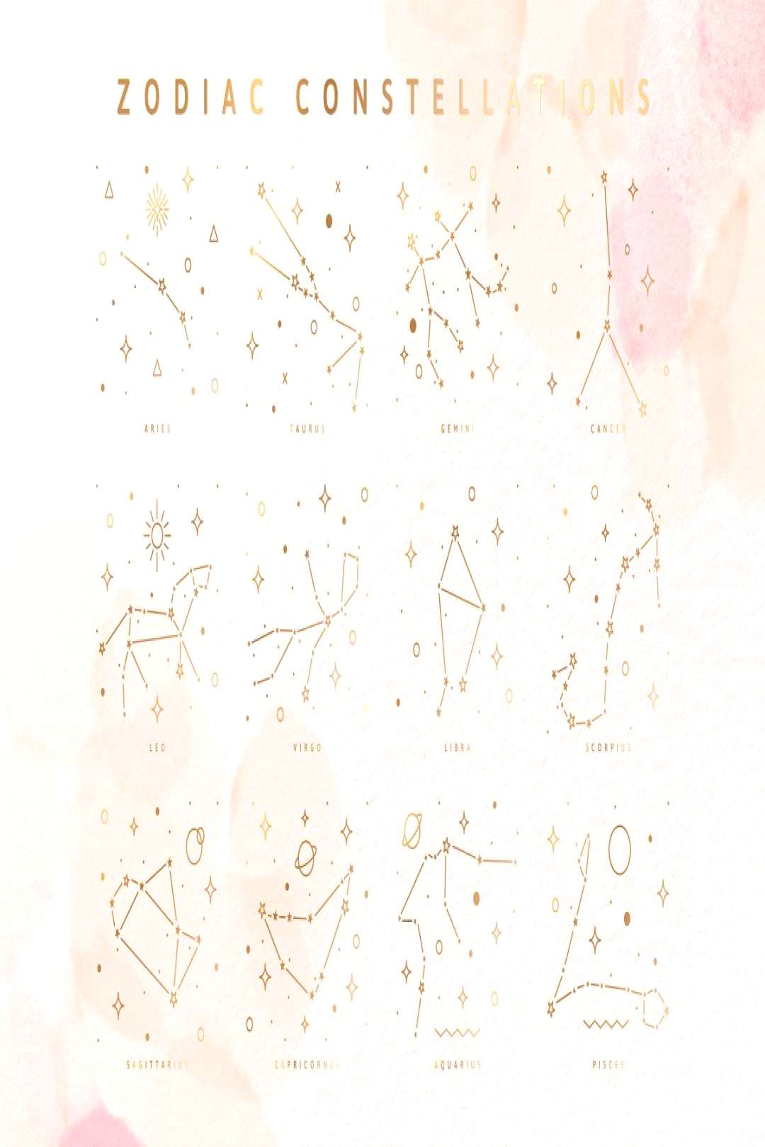 Display: zodiac signs and constellations by Pixejoo on Creative Market. What's your s ...... Di
