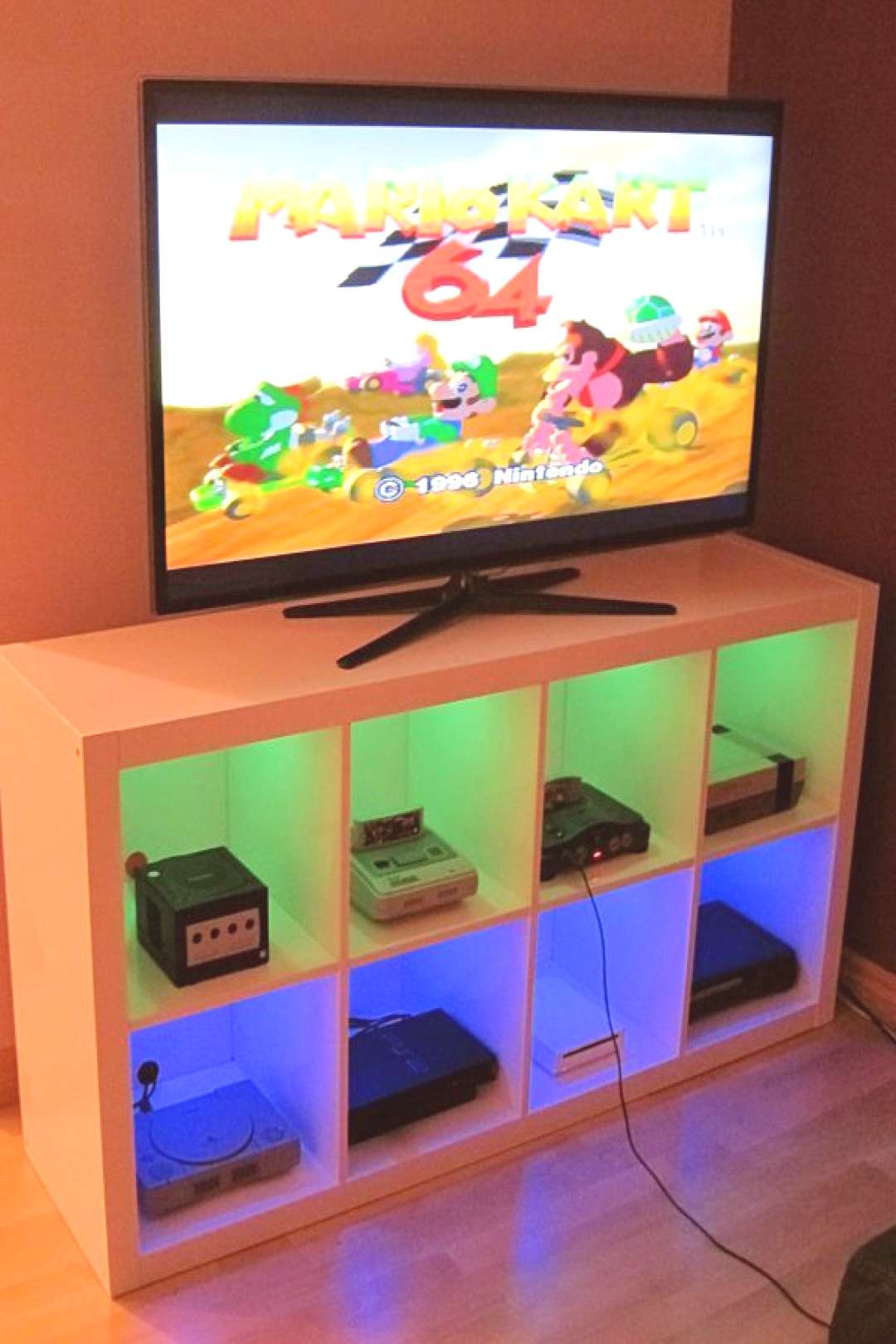 DIY Video Game Storage Solution Ideas for Consoles, Controllers & Games  ikea hack for gaming stora