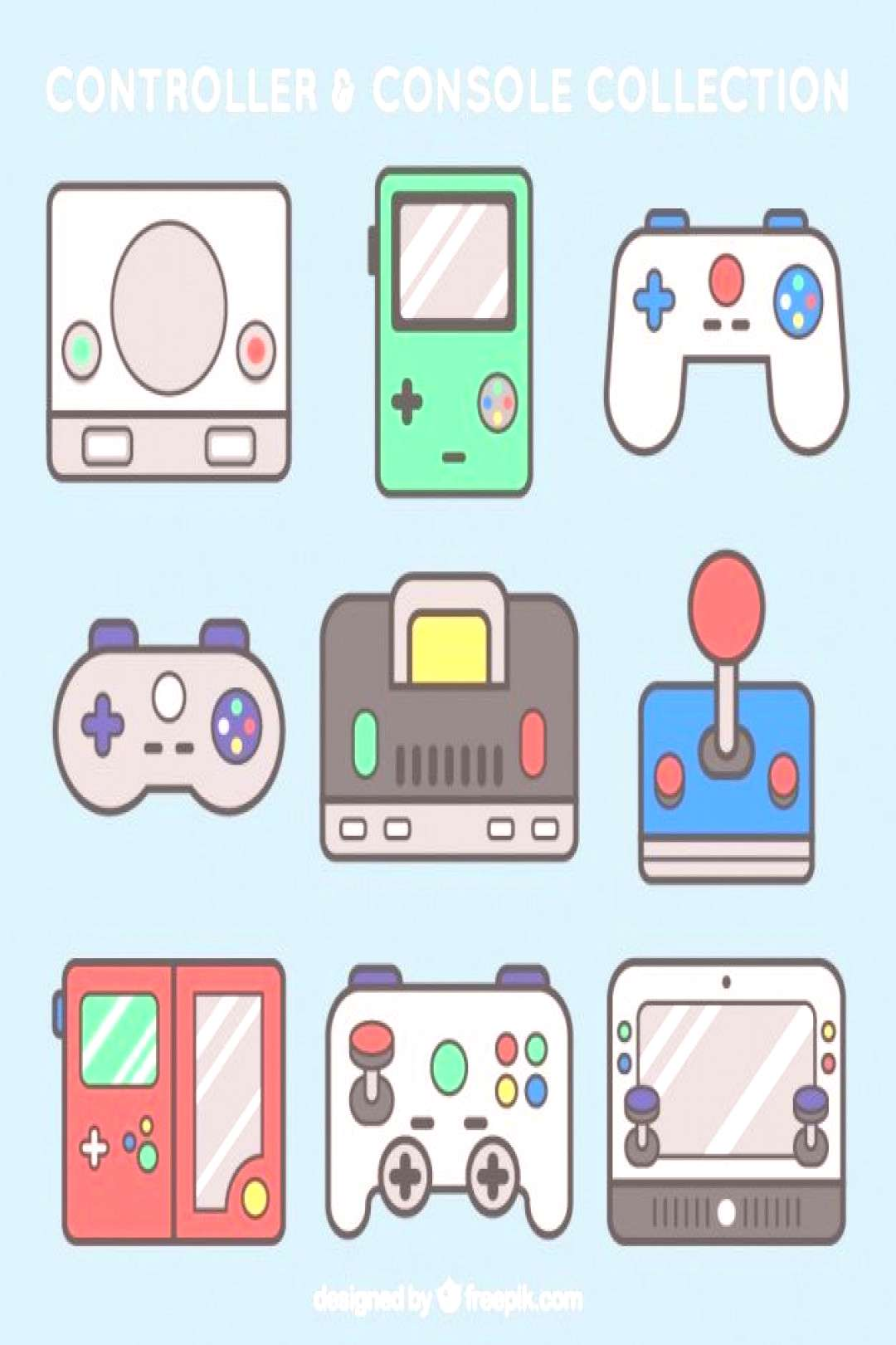 Download Pack Of Consoles And Controls for free-#consoles