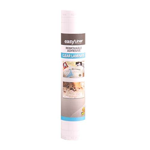 Duck EasyLiner Adhesive Surfaces, 12 in x 36 ft, Clear