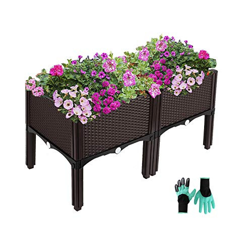 Elevated Planters Raised Garden Beds Plastic, Vegetables