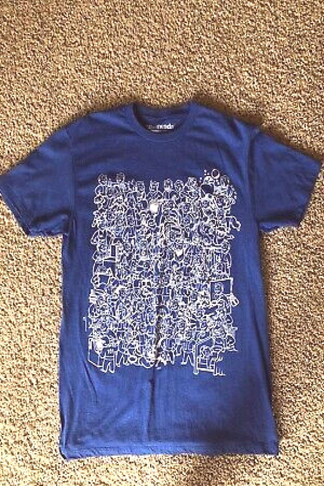 Fallout 4 Vault Boy Collage Blue Size Medium T-shirt Loot Crate Exclusive (ebay link)