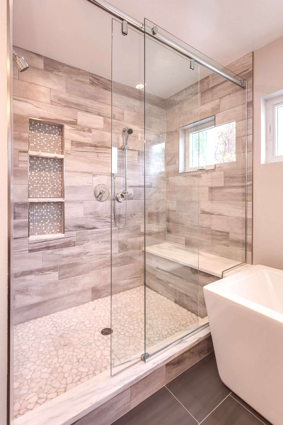 Gorgeous Custom Bathroom with Extra Large Shower - Contemporary - Bathroom - Denver - by JM Kitchen