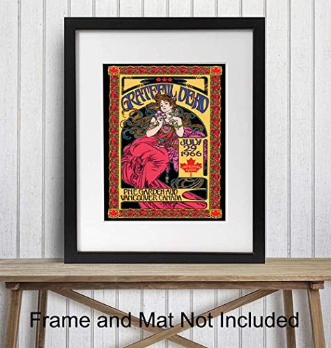 Grateful Dead Poster - 8x10 Psychedelic Room Decor -