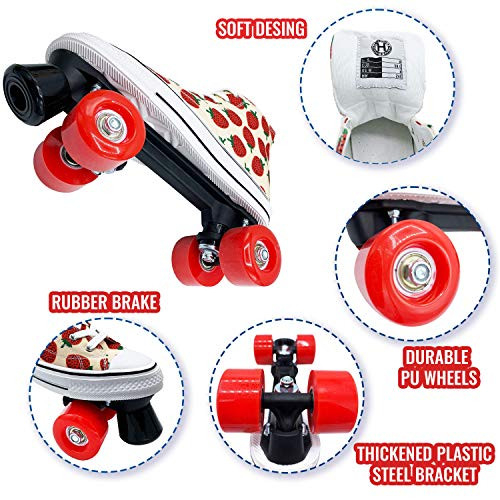 HASERD Roller Skates for Women with Bags- Adjustable Double