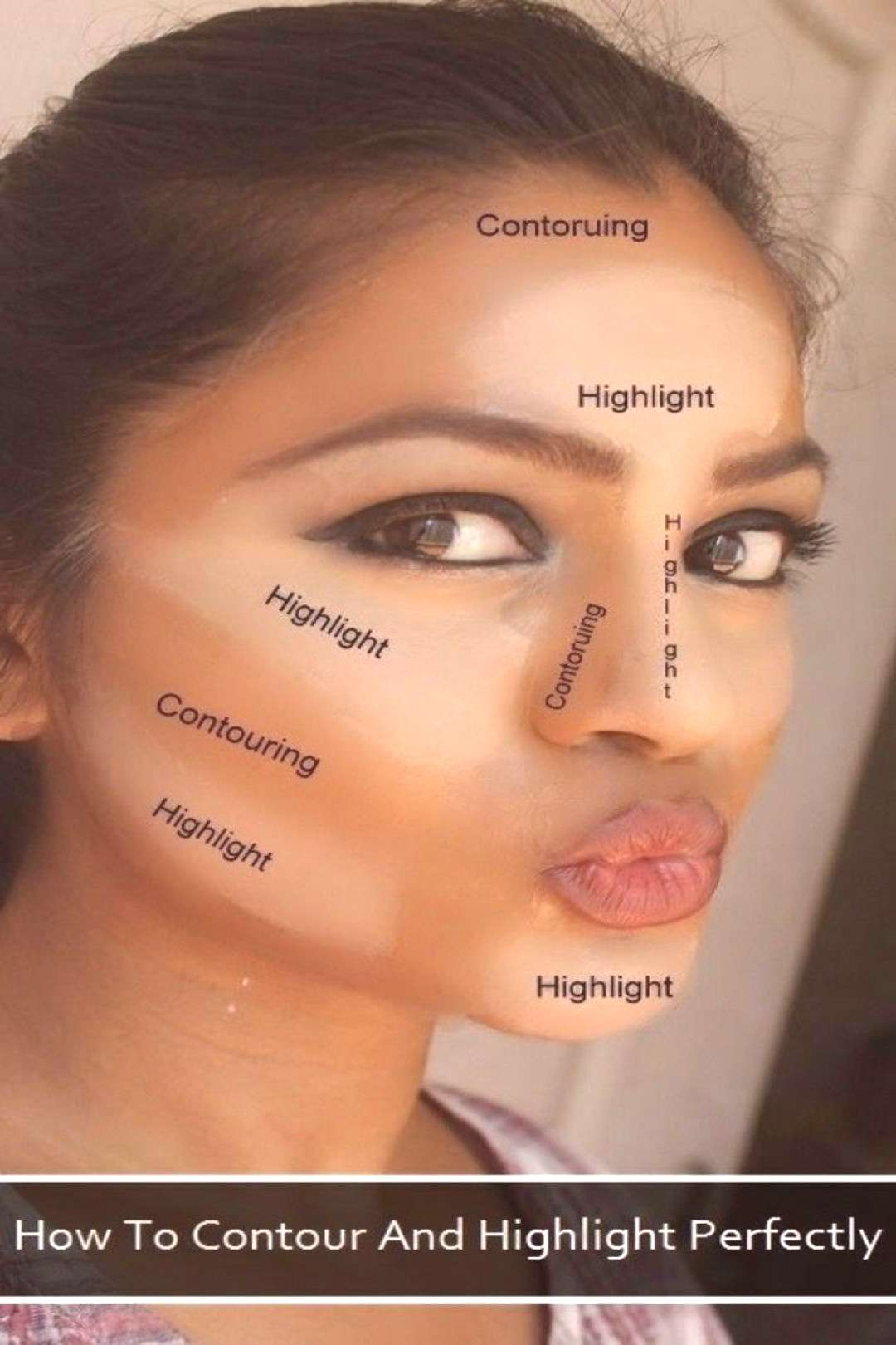 Here are several suggestions for a quick contouring makeup tutorial - #archzine