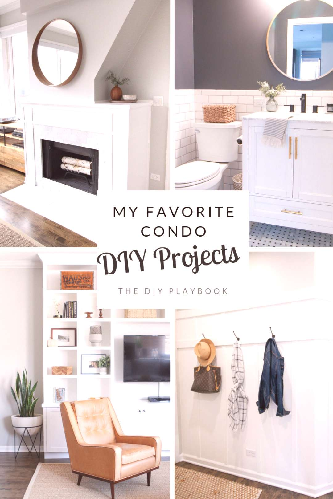 Here's a look at some of my favorite DIY projects from our Chicago condo. Take a look at all of the