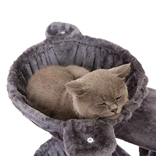 Hey-brother 39.37 inches Cat Tree with Luxury Condo, Cat