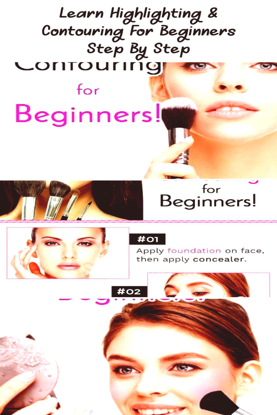 Highlighting, contouring for beginners ... ,  Highlighting, contouring for beginners ... ,