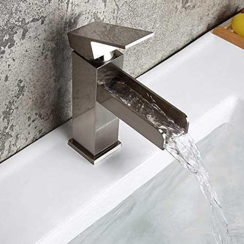 Homary Contemporary Waterfall Sink Faucet for Bathroom