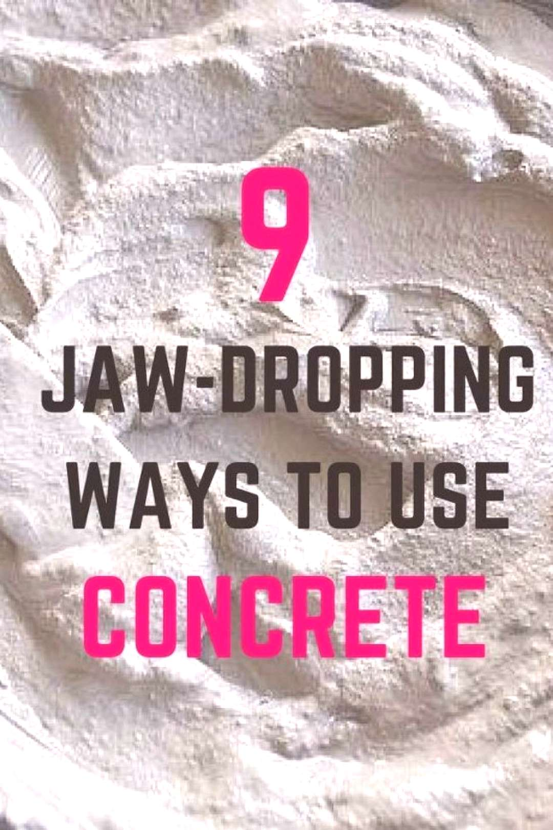 Honestly, we would never in a million years think of decorating our homes with concrete. Seeing tha