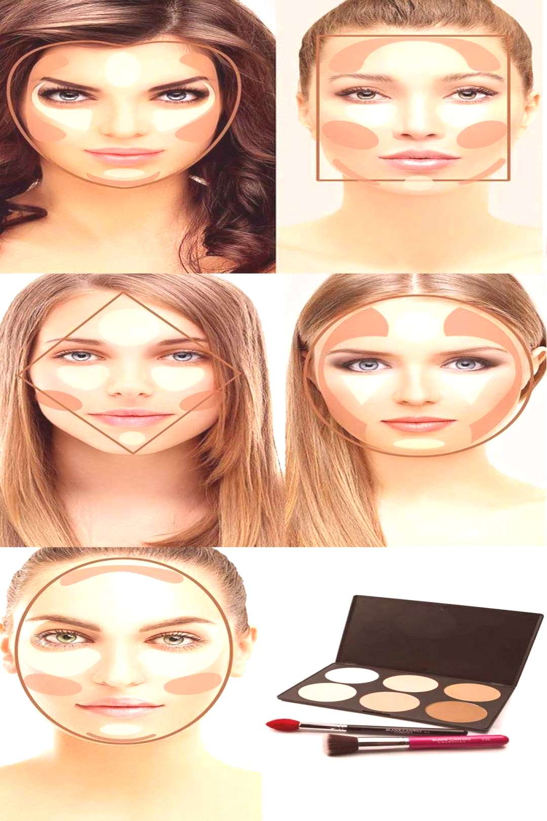 how to contour the face according to the shape