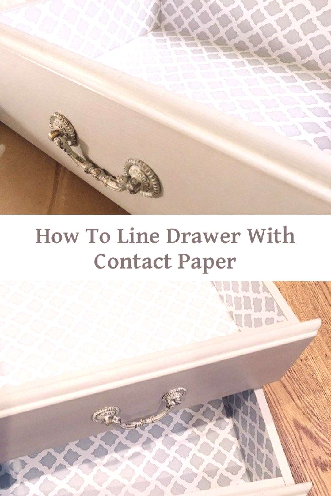 how to line any drawer with contact paper