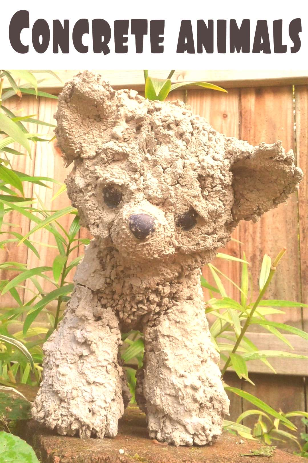 How to make concrete animals for your garden How to make concrete animals for your garden.