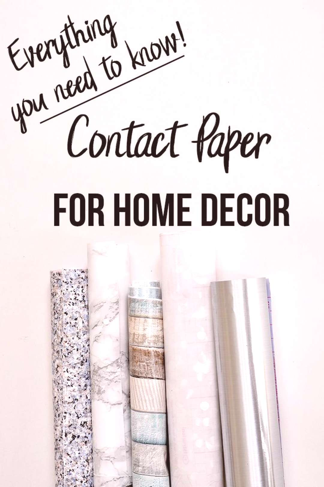 I had no idea Contact paper was so amazing!! DIY home decor with Contact paper is going to be so ea