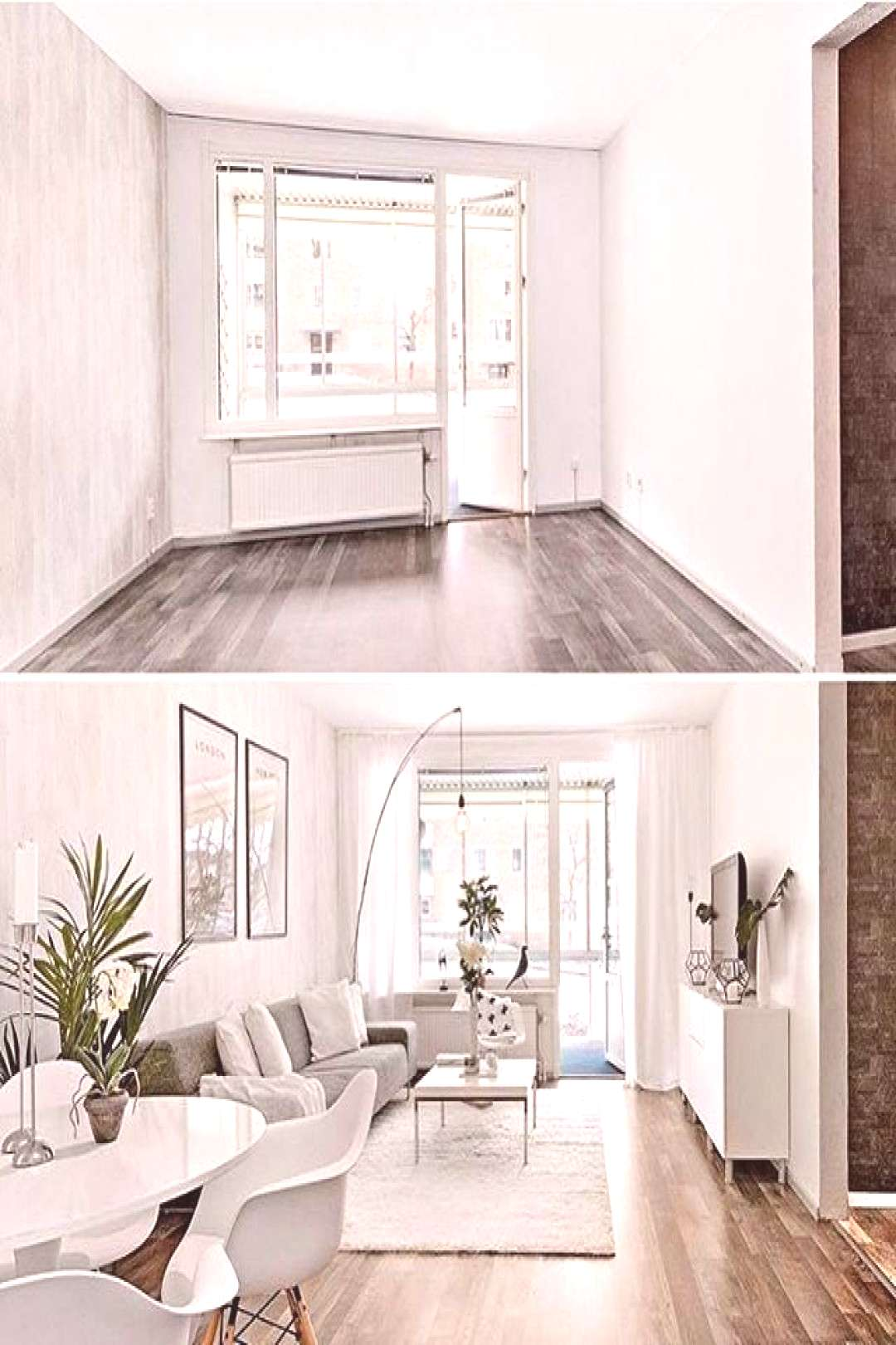 I love a good before and after home staging by @