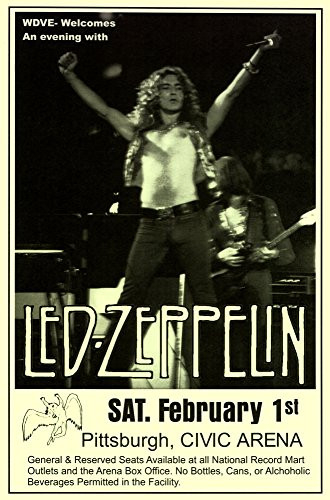 Innerwallz Led Zeppelin Page Plant 1975 Civic Arena