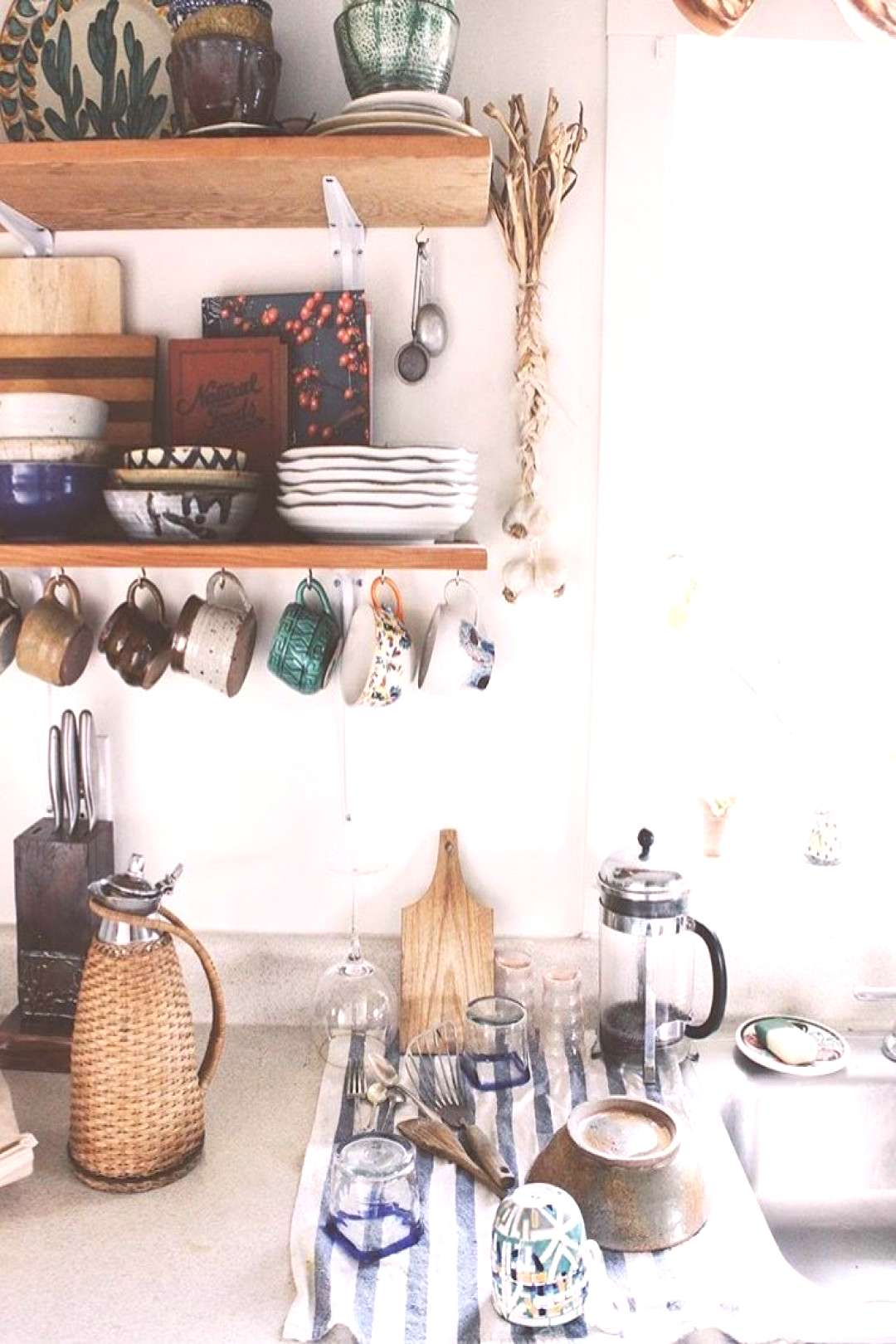 Kitchen Don't disregard open shelving in your modern kitchen. It doesn't have to be just a func