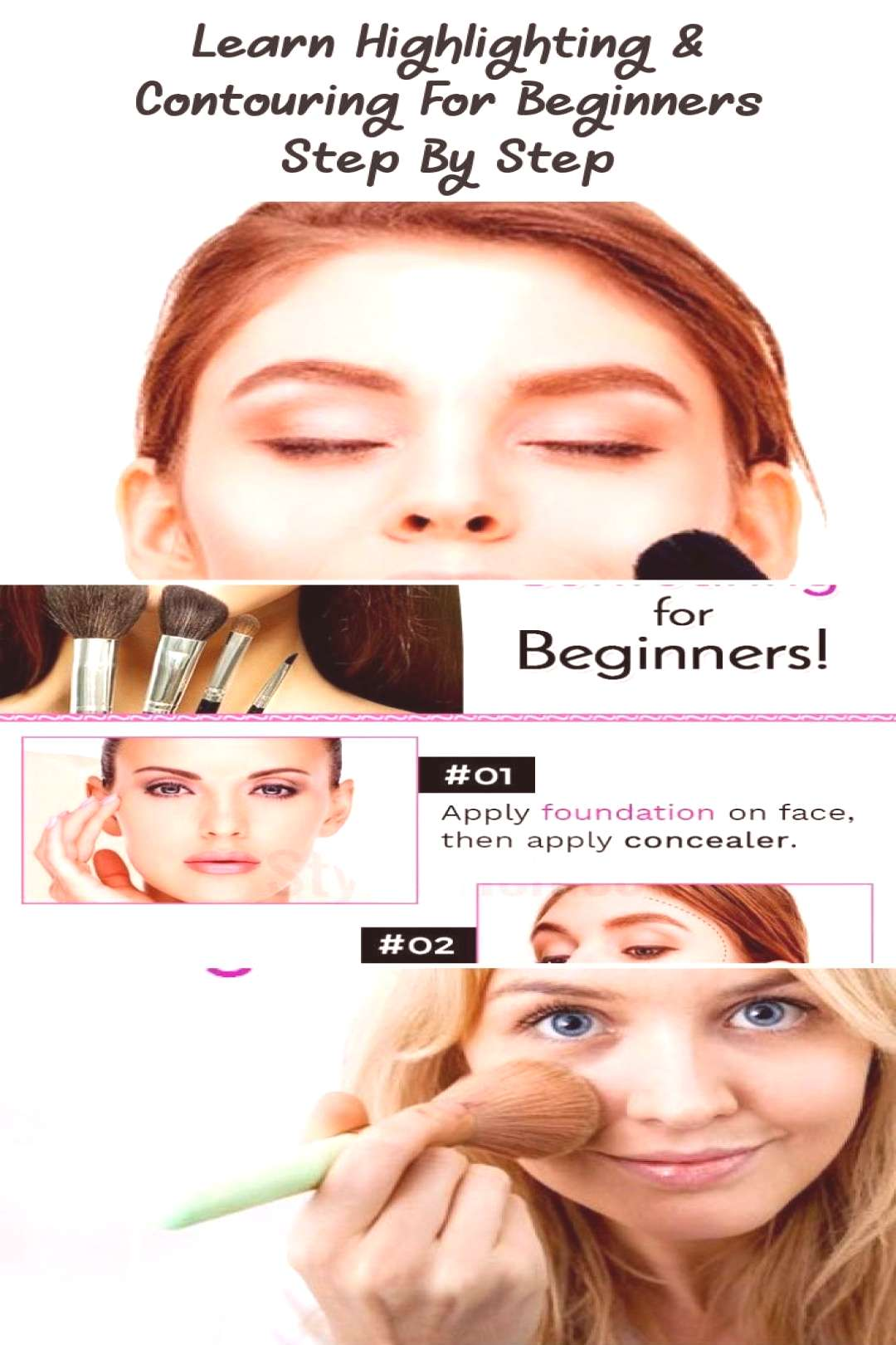 Learn Highlighting amp Contouring For Beginners Step By Step… - Eye Makeup - Hi... - Learn Highli