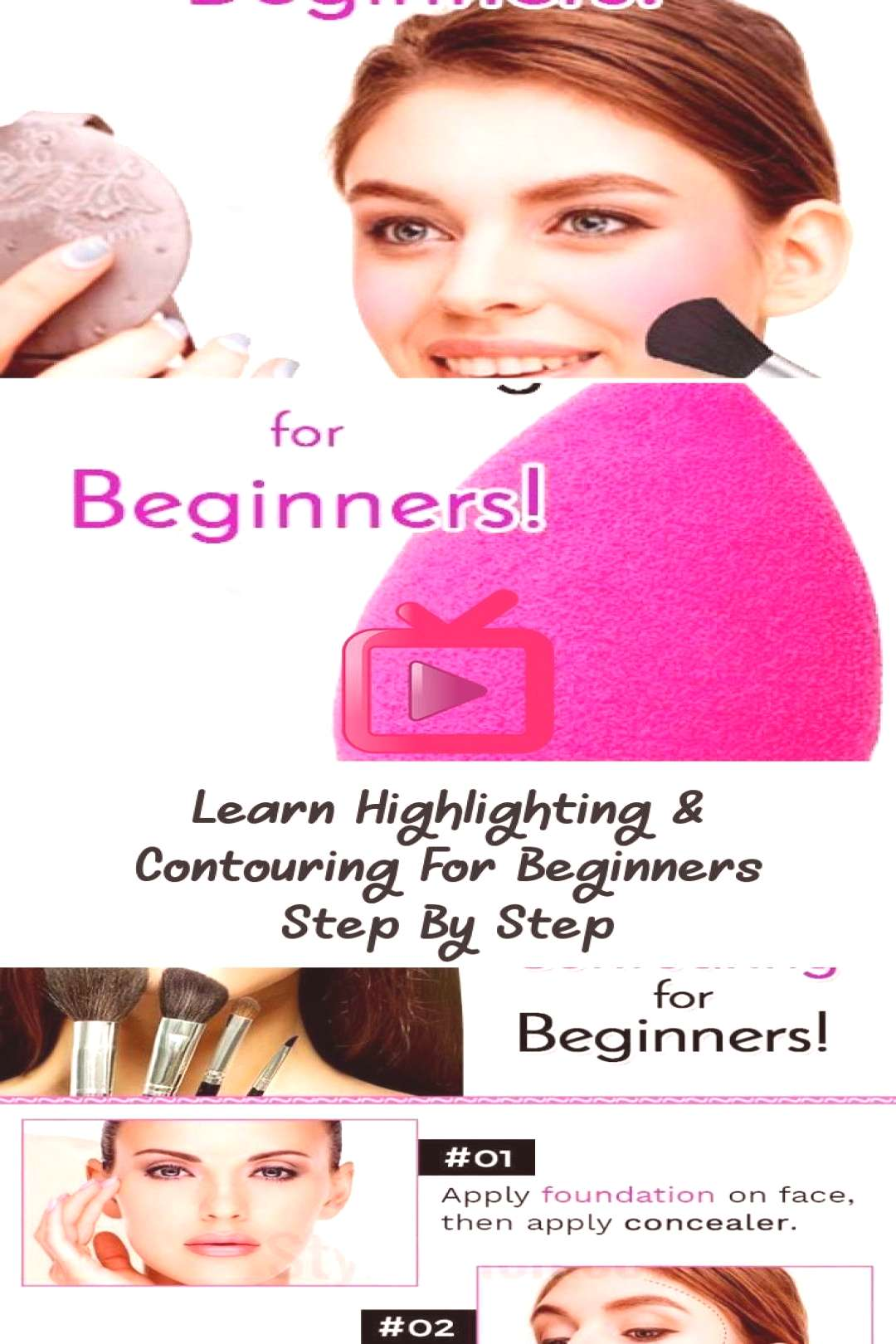Learn Highlighting amp Contouring For Beginners Step By Step… - Makeup Beauty - ...