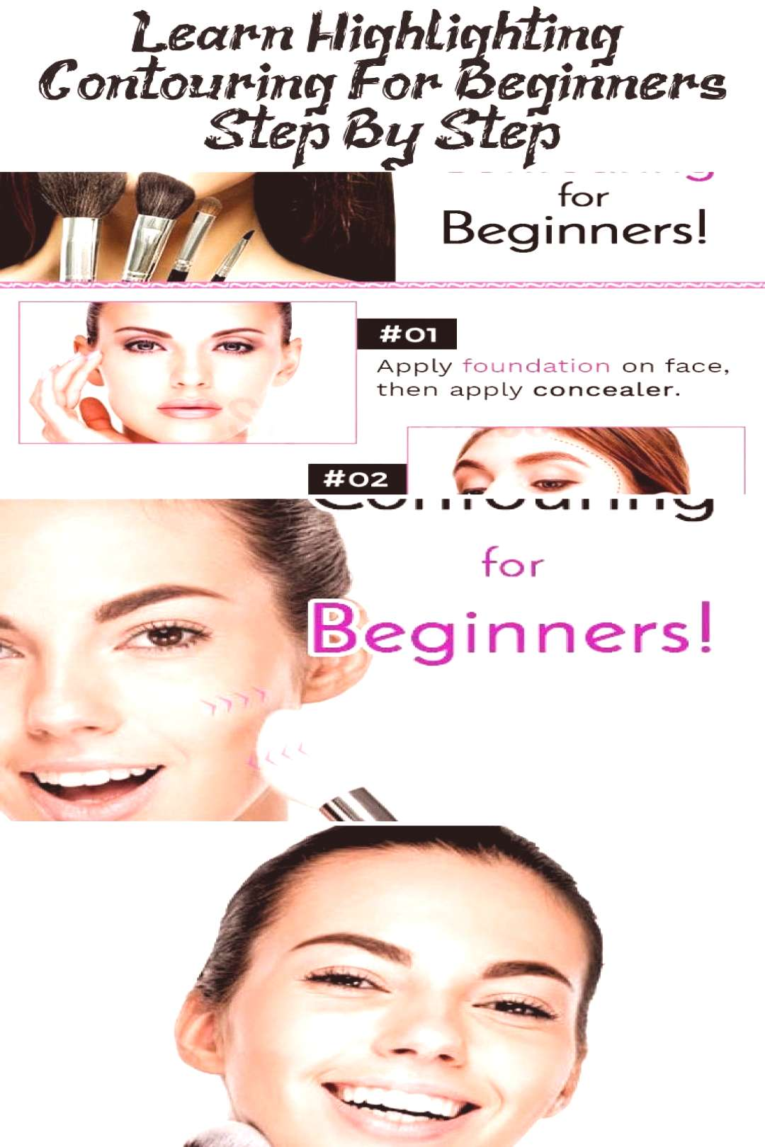 Learn Highlighting & Contouring For Beginners Step By Step… - Skys Blog -  Hig...#beginners