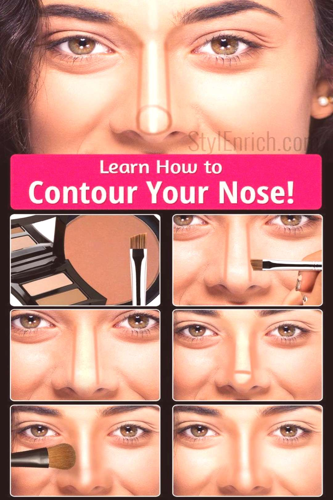 Learn How To Contour Your Nose - Makeup Secrets - Learn How To ...  Learn How To Contour Your Nose