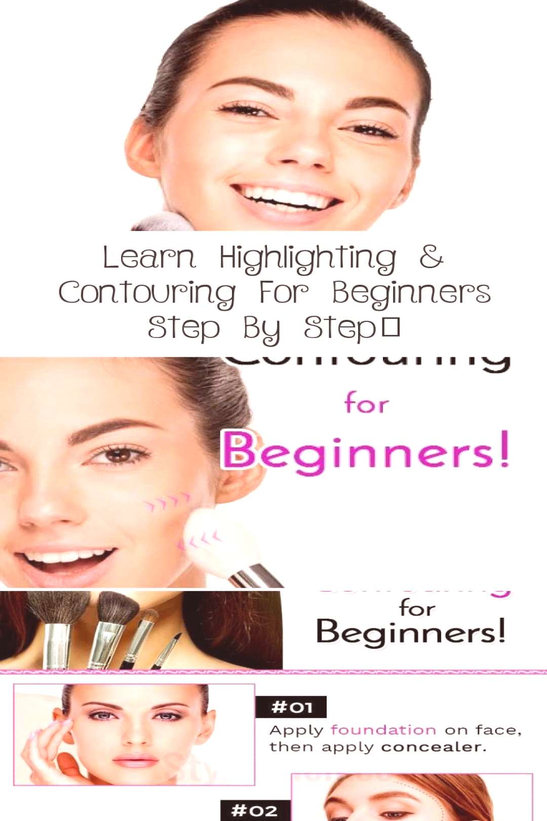 Learn step-by-step highlighting and contouring for beginners ... - MAKEUP - Hig ... , Learn step-b