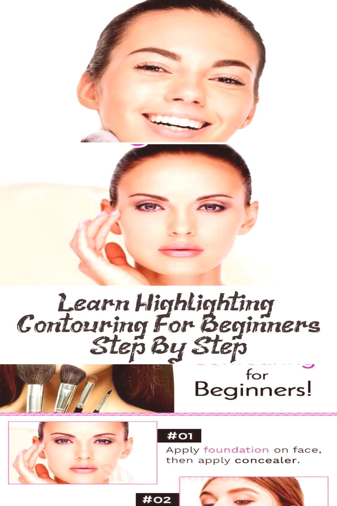Learn step-by-step highlighting and contouring for beginners ... - MAKEUP - Highli ... - Learn step
