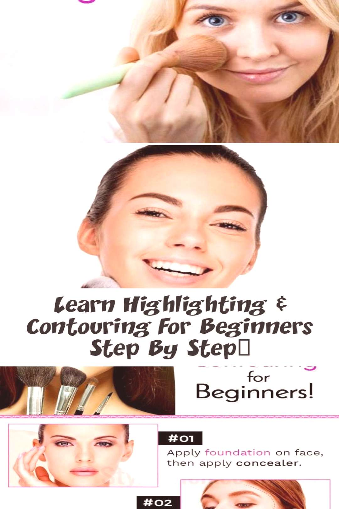 Learn step-by-step highlighting and contouring for beginners ... - MAKEUP - ... , Learn step-by-st