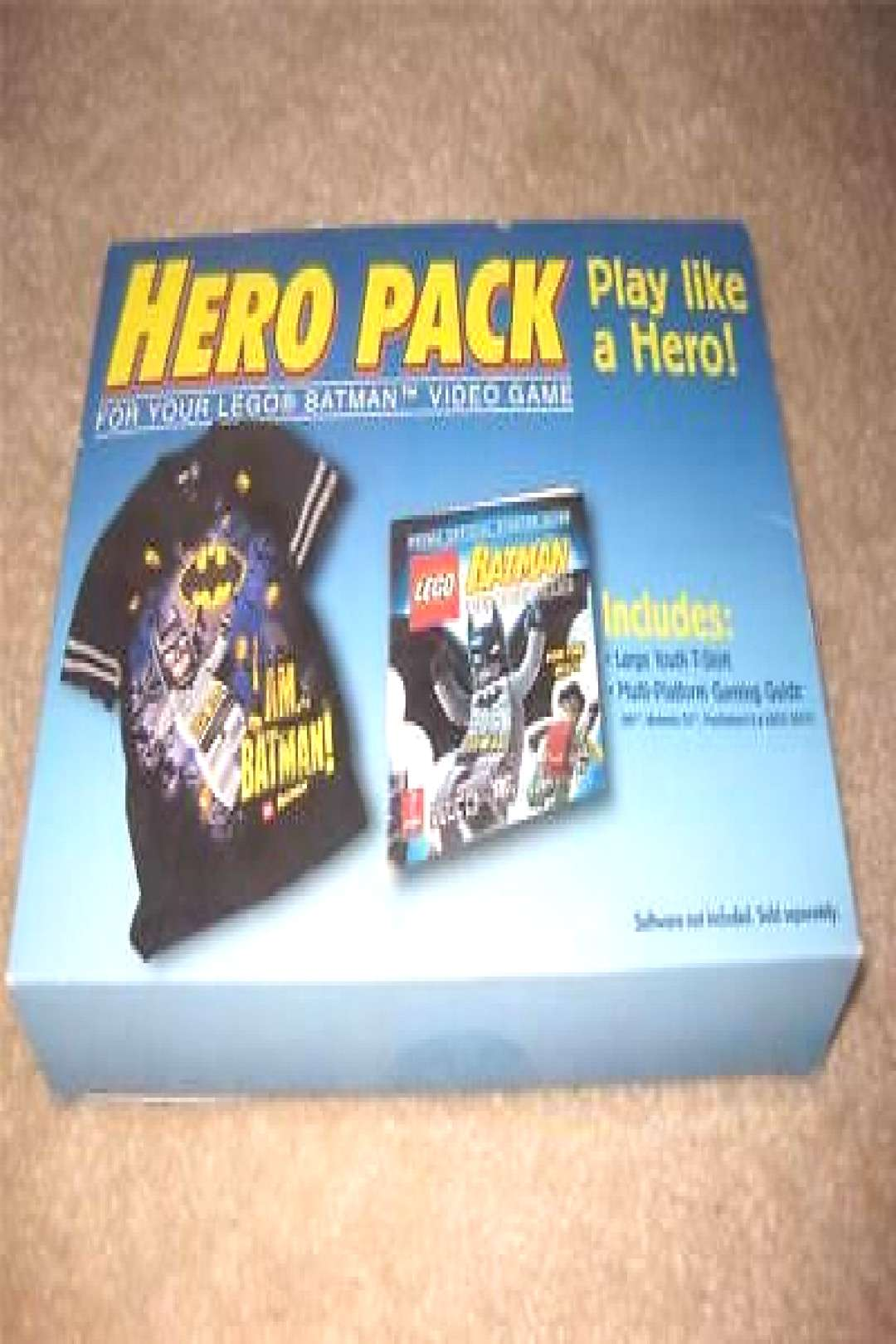 LEGO Batman Hero Pack - Youth Large T-Shirt & Guide for Wii DS Xbox 360 PS3 (ebay link)
