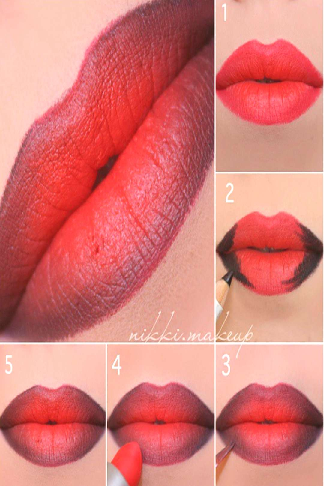 Lips full of makeup: this is how it works with lip contouring and ombré lips! Lips full of makeup: