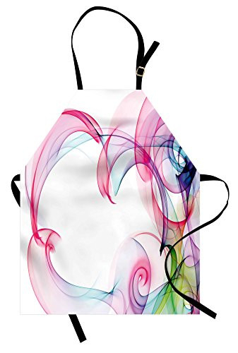 Lunarable Abstract Apron, Colorful Smock Art Contemporary