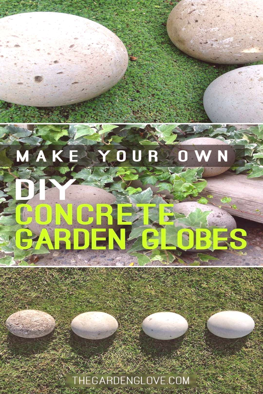 Make Your Own DIY Concrete Garden Globes! • Click thru to see the easy step by step tutorial for