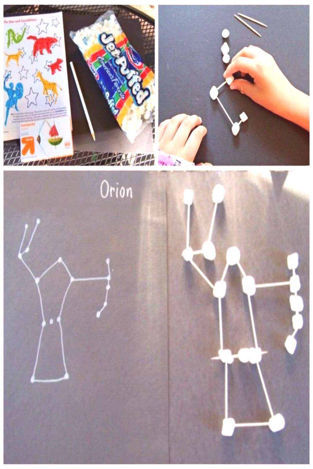 Marshmallow Star Constellations for Kids -