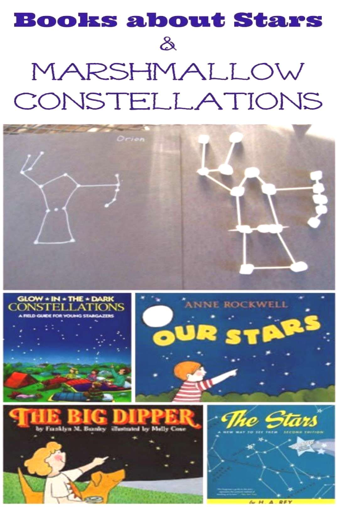 Marshmallow Star Constellations for Kids - - Marshmallow Star Constellations for Kids  Edventures