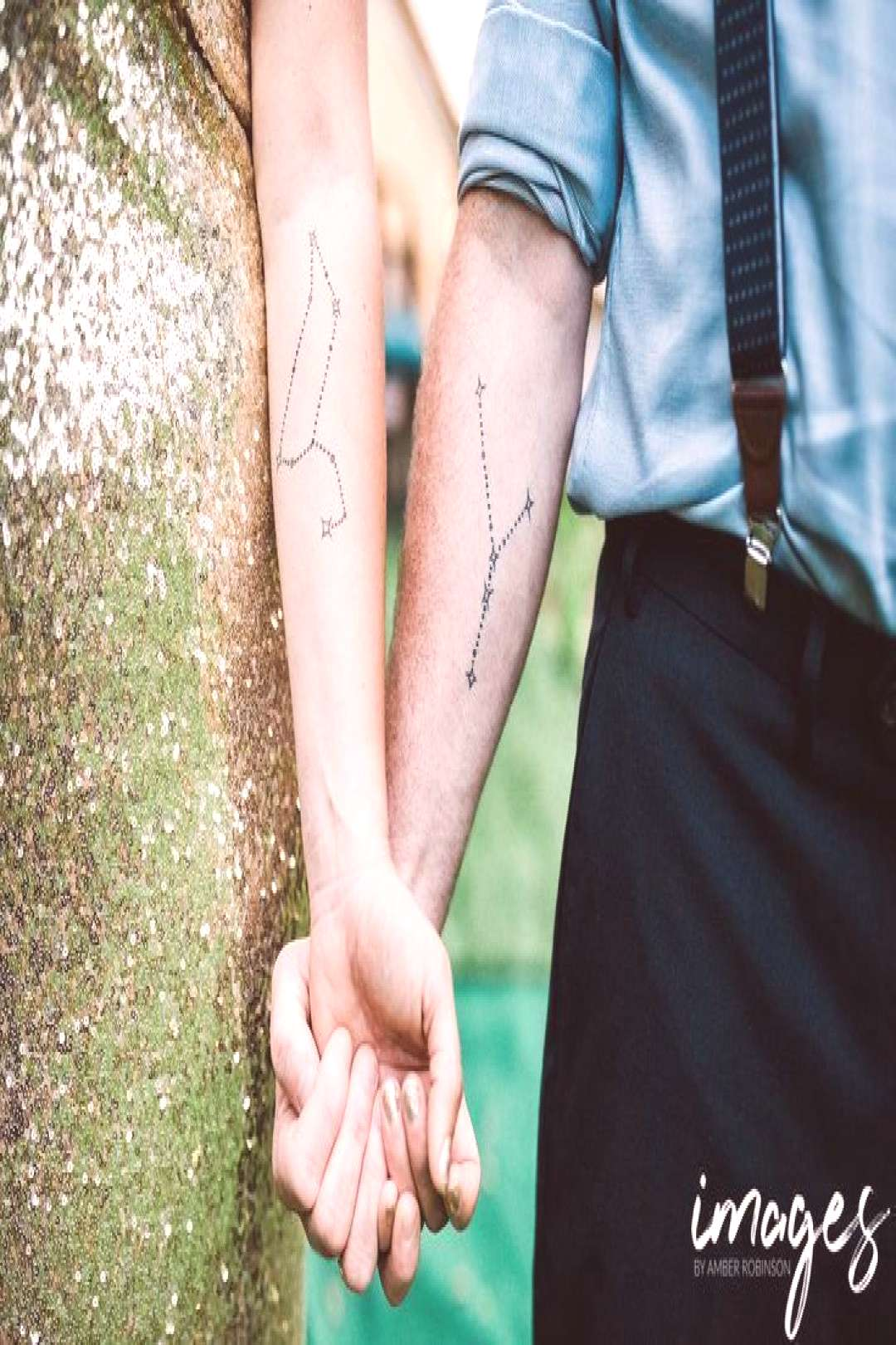Matching Constellation tattoos. Leo and Cancer constellations on our forearms ..., - Matching Con