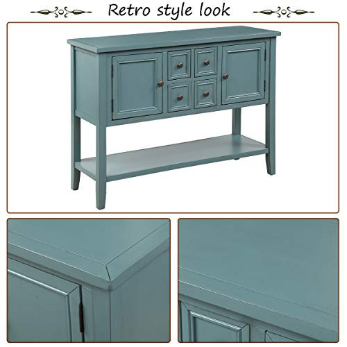 Merax Console Sofa Table Sideboard with Storage Drawers