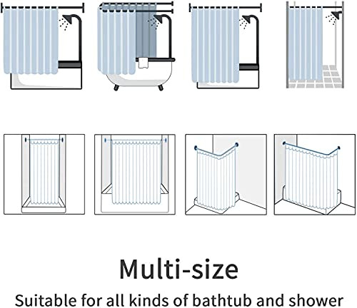 MitoVilla Abstract Grey Marble Shower Curtain Sets with