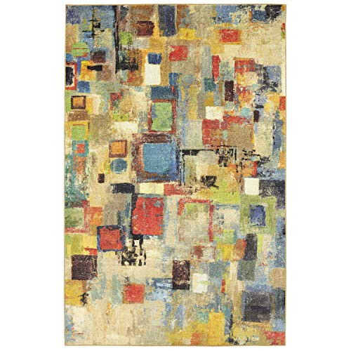 Mohawk Home Prismatic Saratoga Abstract Printed Contemporary