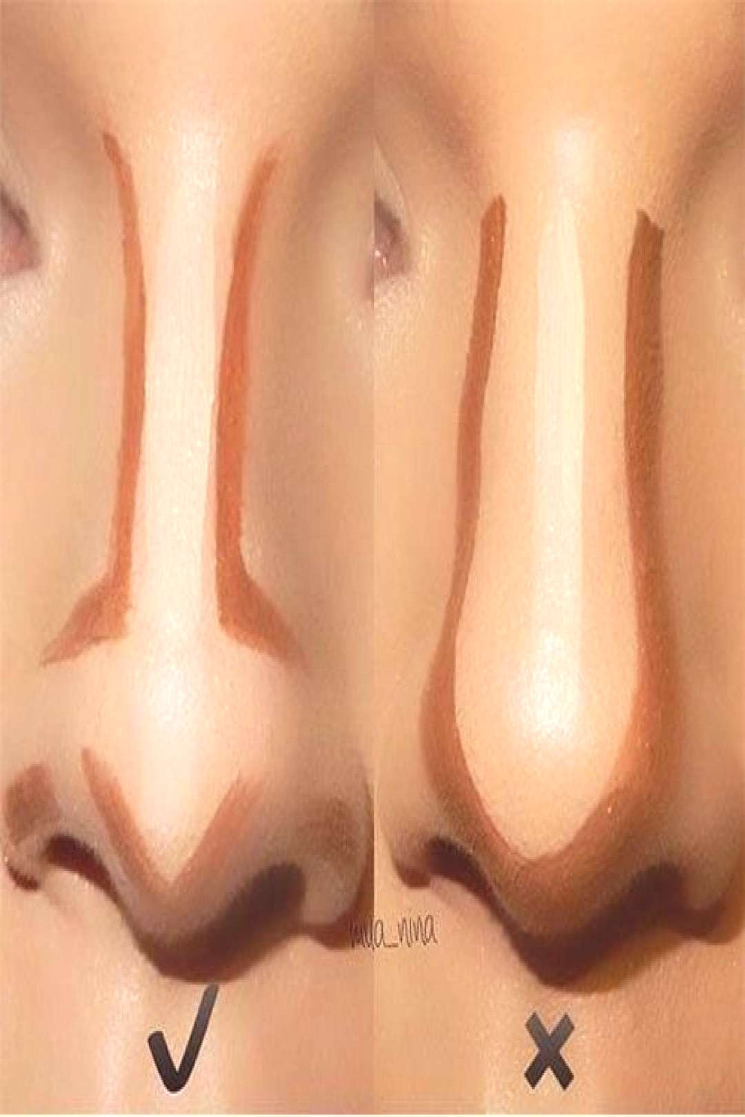 Nose contouring before and after -- dos... - Nose contouring before and after — do's and dont