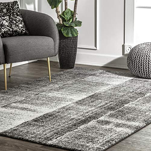 nuLOOM Joann Contemporary Area Rug, 6 7quot x 9, Grey
