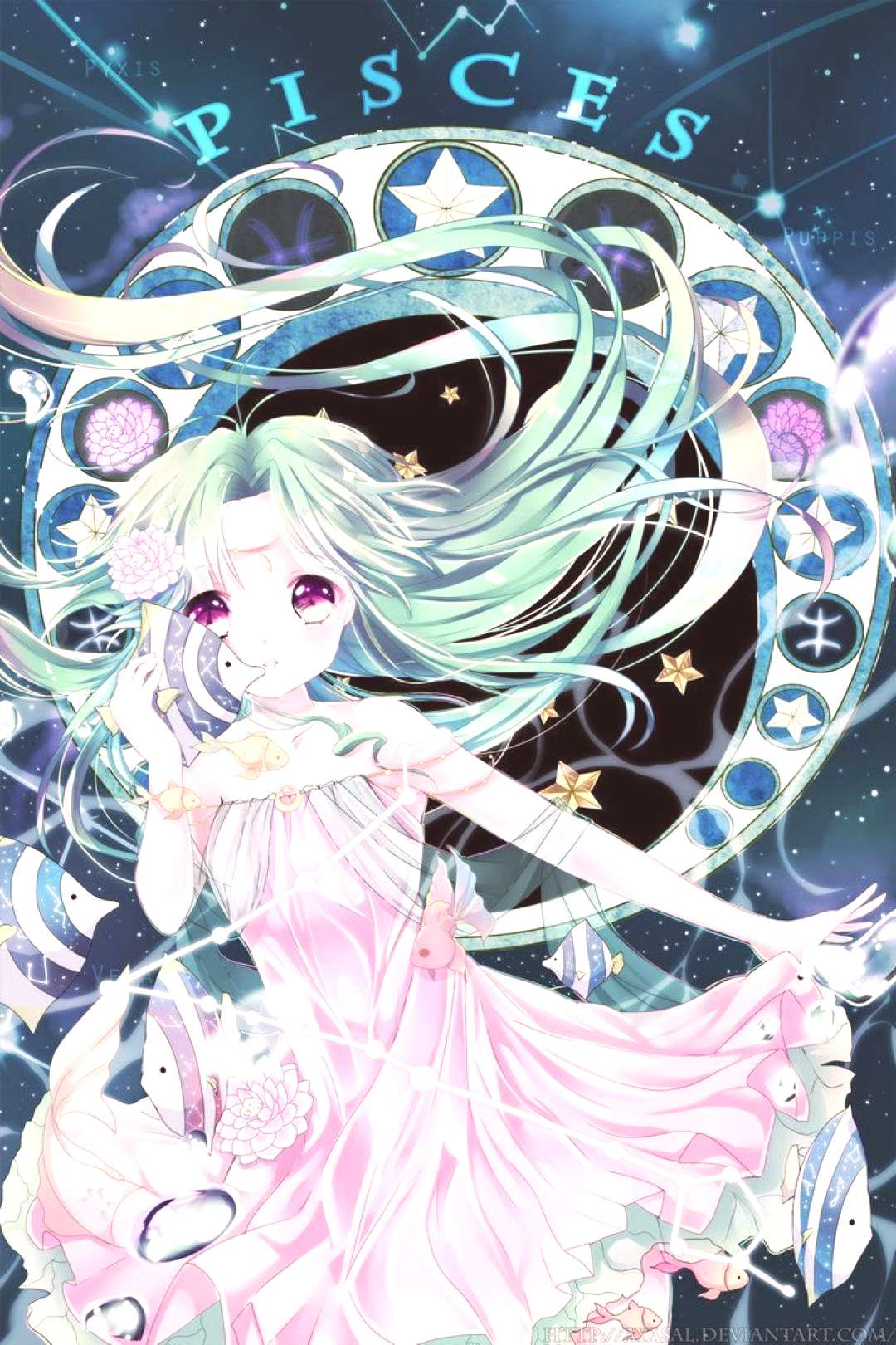 Pisces [Zodiacal Constellations] by Ayasal on DeviantArt#ayasal