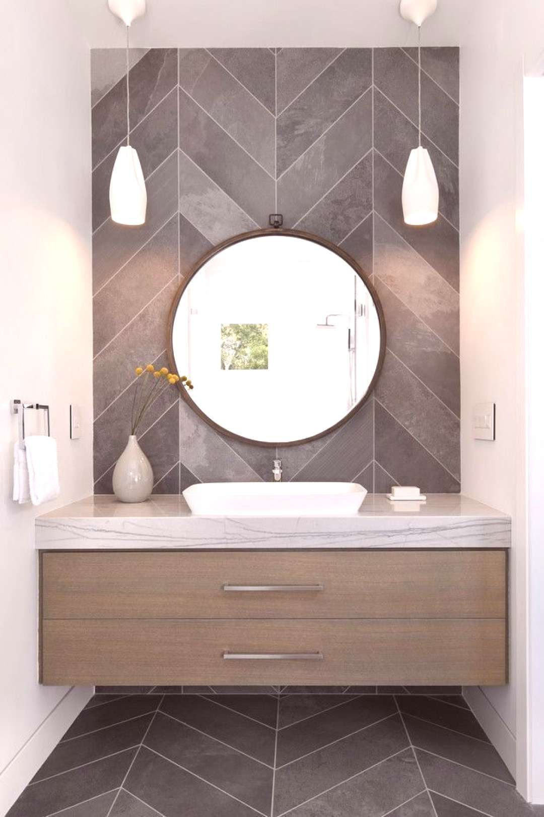 Powder Room Ideas A gracious contemporary estate thoughtfully designed by Young and Borlik Architec