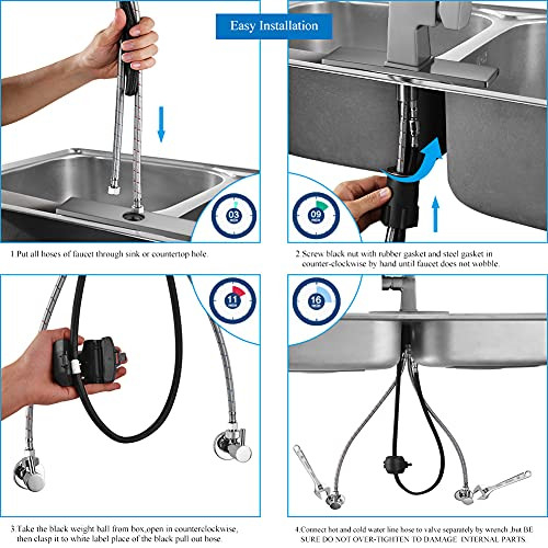 Pull Down Kitchen Sink Faucet -Arofa A02BY Contemporary